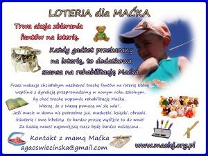 Loteria dla Maćka - wysłana